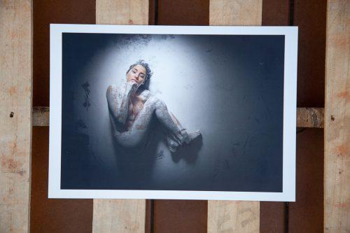 Cuadro fotografia desnudo artistico pintura y piel
