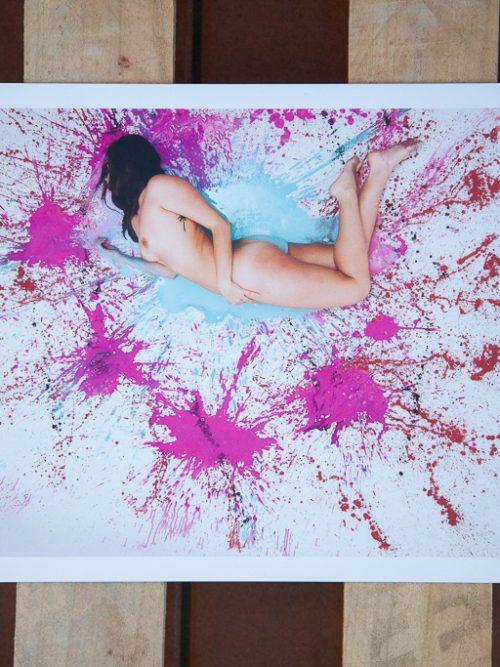 cuadro fotografía pintura y piel