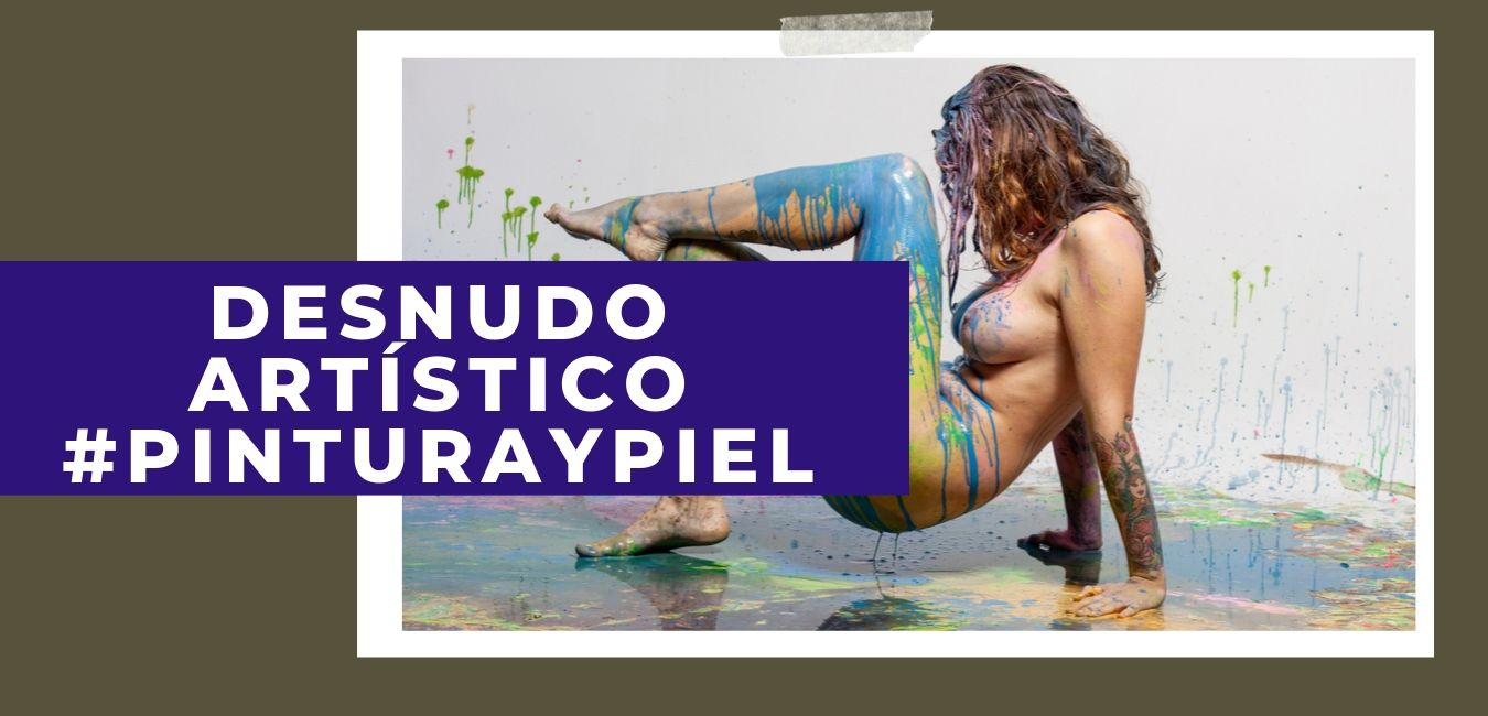 Fotografía de desnudo artístico pintura y piel